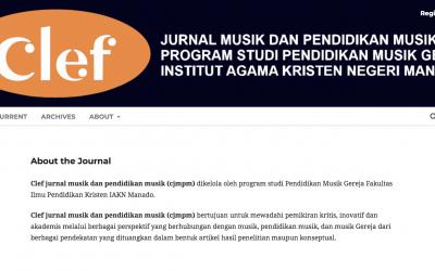 Mari Mengenal Jurnal Terbitan Pertama Pendidikan Musik Gereja IAKN Manado